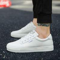 2018 spring and autumn lovers models white shoes men and women student shoes sports shoes men and women board shoes