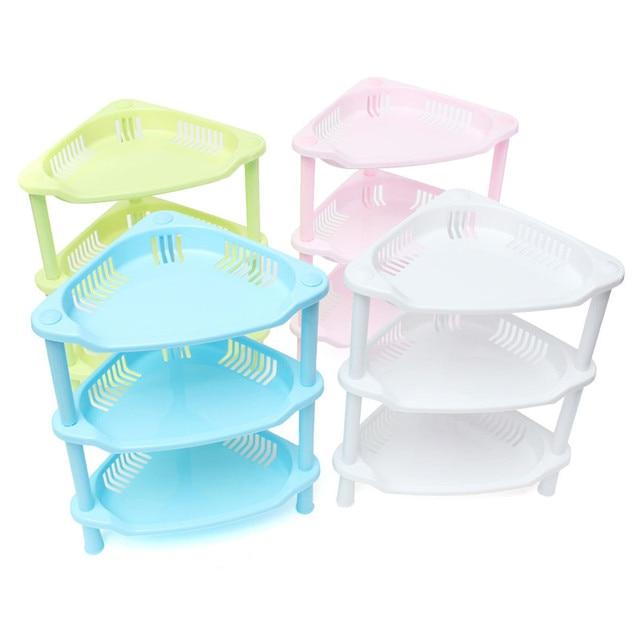 Recién llegado de hermoso diseño 3 Tier esquina de plástico ...
