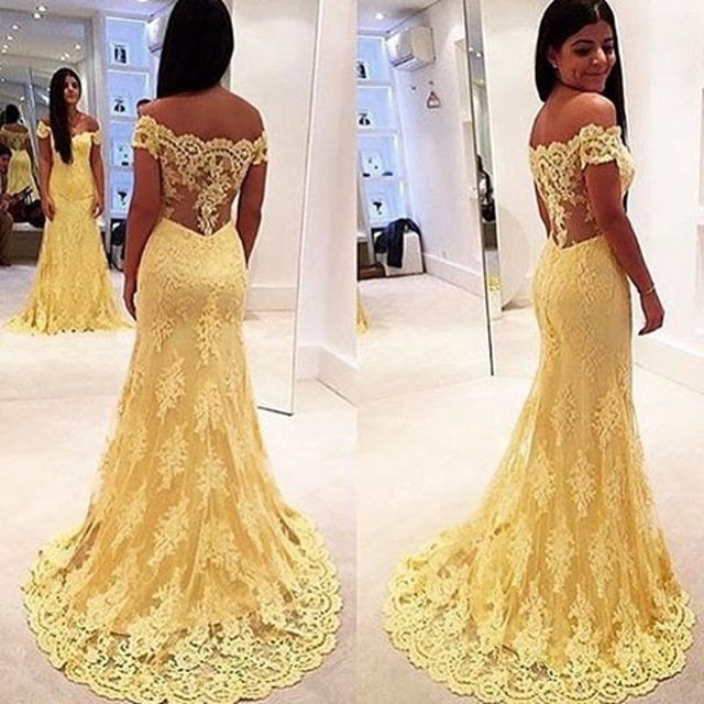 Compare Prices on Yellow Evening Gowns- Online Shopping/Buy Low ...