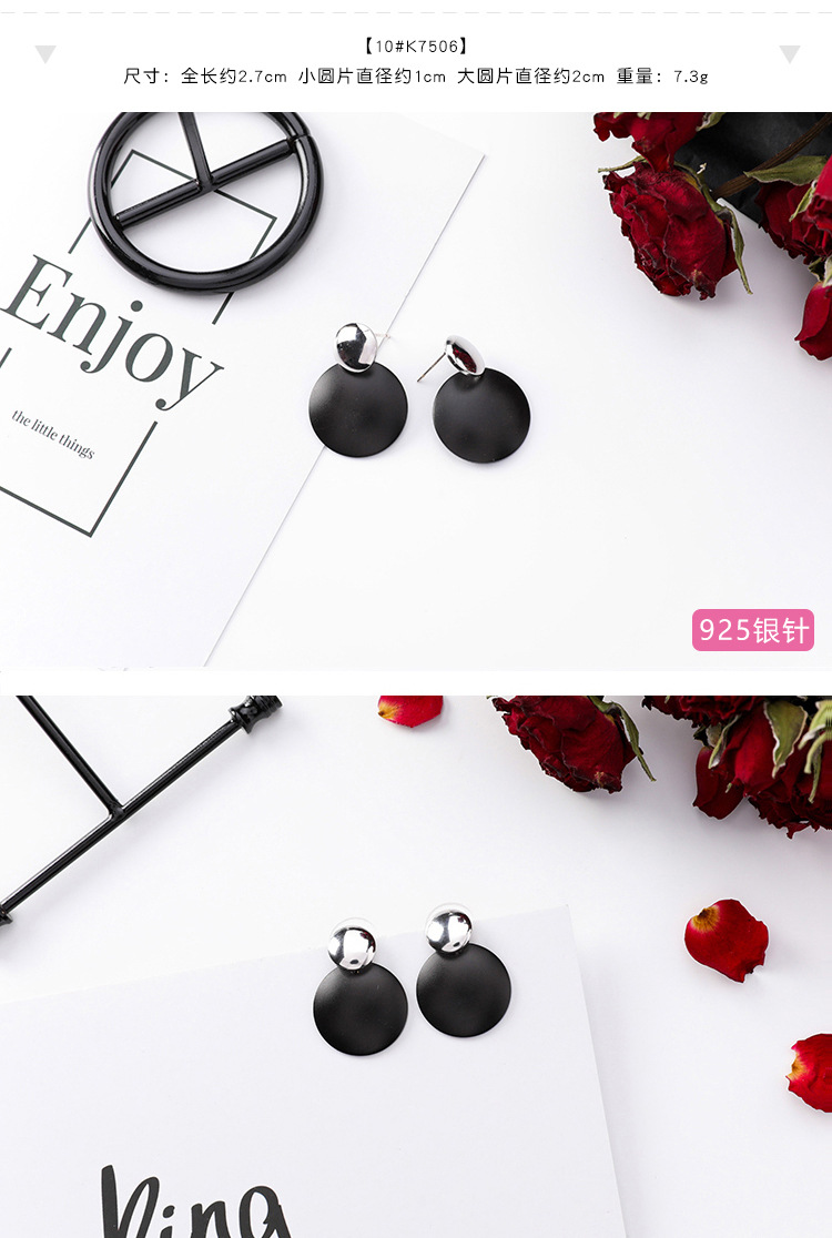 HTB11URTKXmWBuNjSspdq6zugXXaU - Girl Earrings Black Geometry Drop Earrings