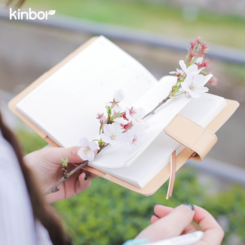 Japanese Cute Pink A6 Traveler's Notebook Agendas 2017 Planner DIY  Diary  with Calender Daily Plan Efficiency Book Gift kinbor 4 colors cute planner notebook 365 days personal daily plan book project agendas 2017 kawaii gift korean stationery