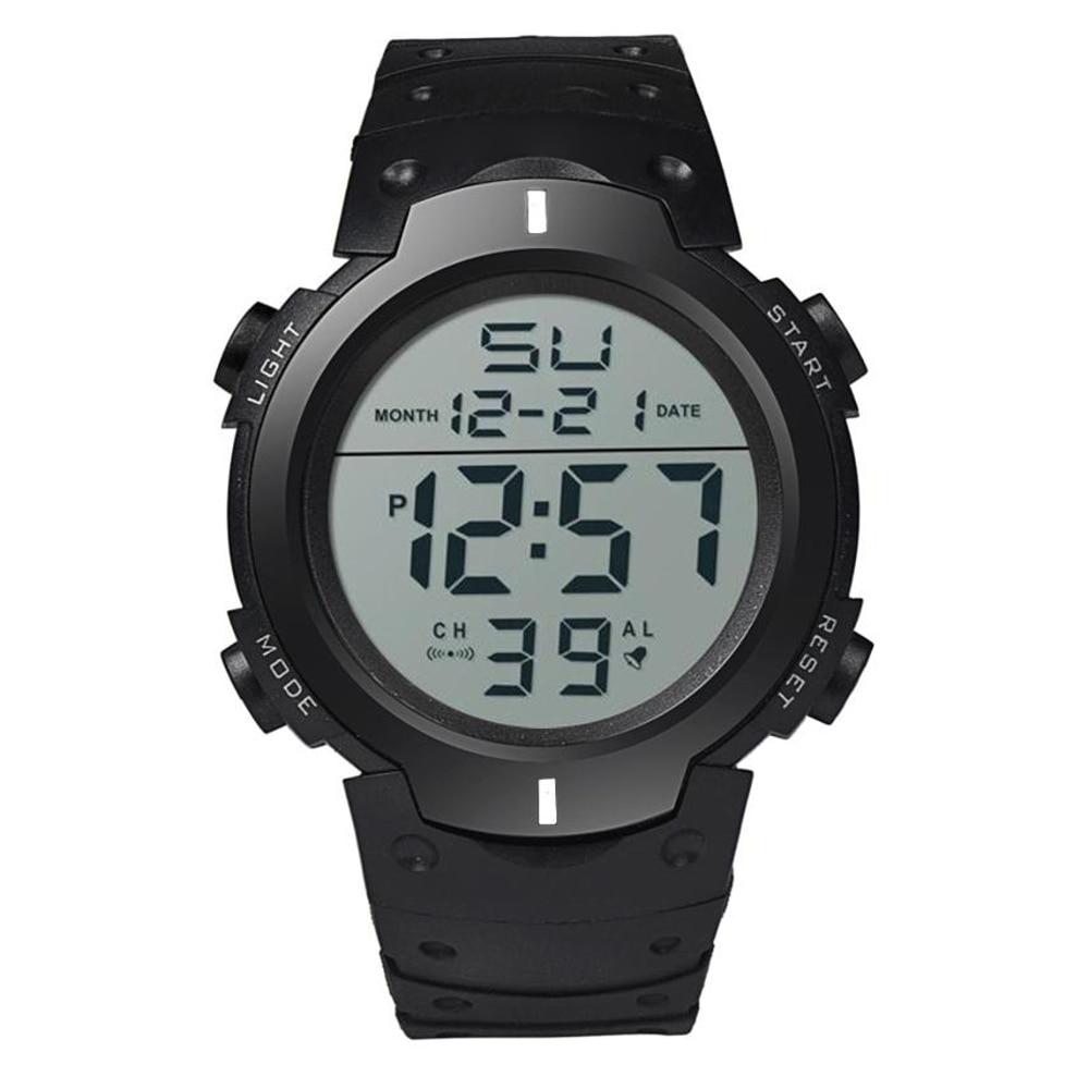 Perfekt Present Mode Vattentät Mäns Boy LCD Digital Stopwatch Datum - Herrklockor - Foto 3