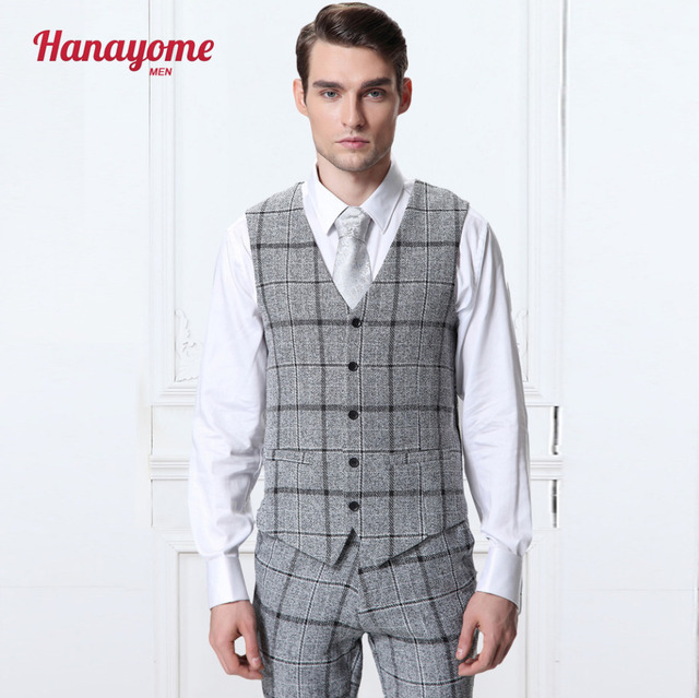 Brand New Suit Vest Men Fashion High Quality Formal Business Men Dress  Vests Slim Fit Casual