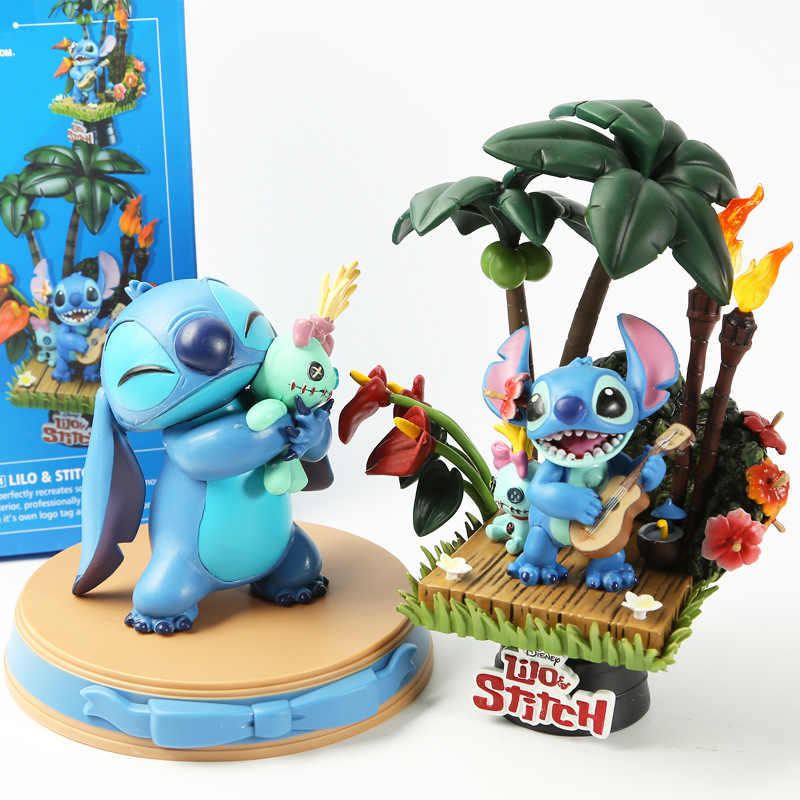 Beast Kingdom Lilo & Stitch Figurine Stitch and Scrump Action Figures Car Decoration PVC Collection Model Toys Dolls