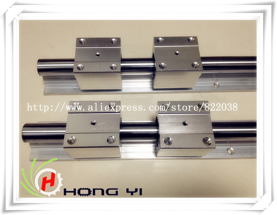 Envío gratuito: 2 unids SBR16 guías lineales L 1000mm soporte lineal de eje de carril + 4 unids SBR16UU rodamiento lineal bloques - 2