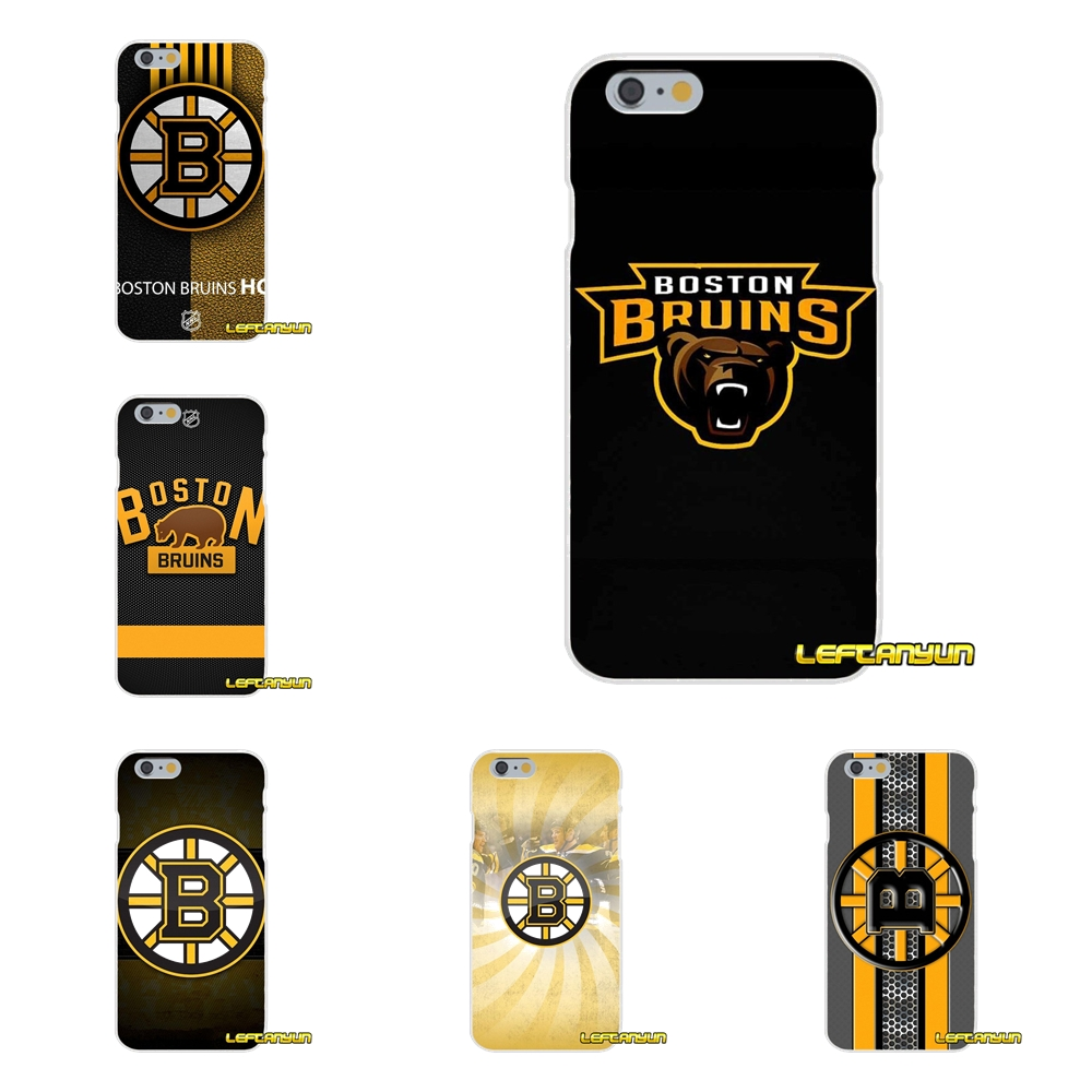 Ice Hockey Boston Bruins logo Soft Silicone phone Case For Huawei G7 P8 P9 p10 Lite 2017 Honor 5X 5C 6X Mate 7 8 9 Y3 Y5 Y6 II ...