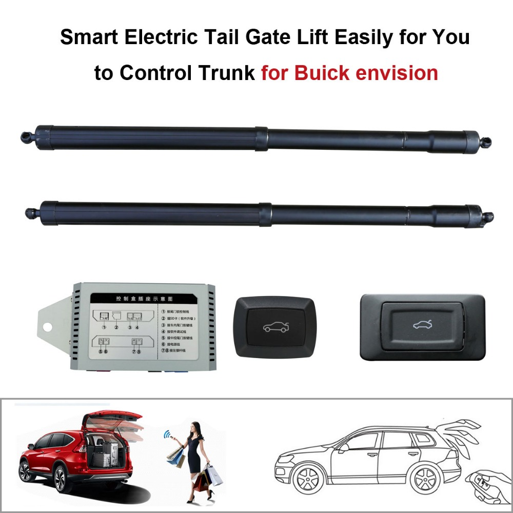 Smart Auto Electric Tail Gate Lift for Buick Envision Control by Remote Drive Seat Tail Gate Button Set Height Avoid PinchSmart Auto Electric Tail Gate Lift for Buick Envision Control by Remote Drive Seat Tail Gate Button Set Height Avoid Pinch