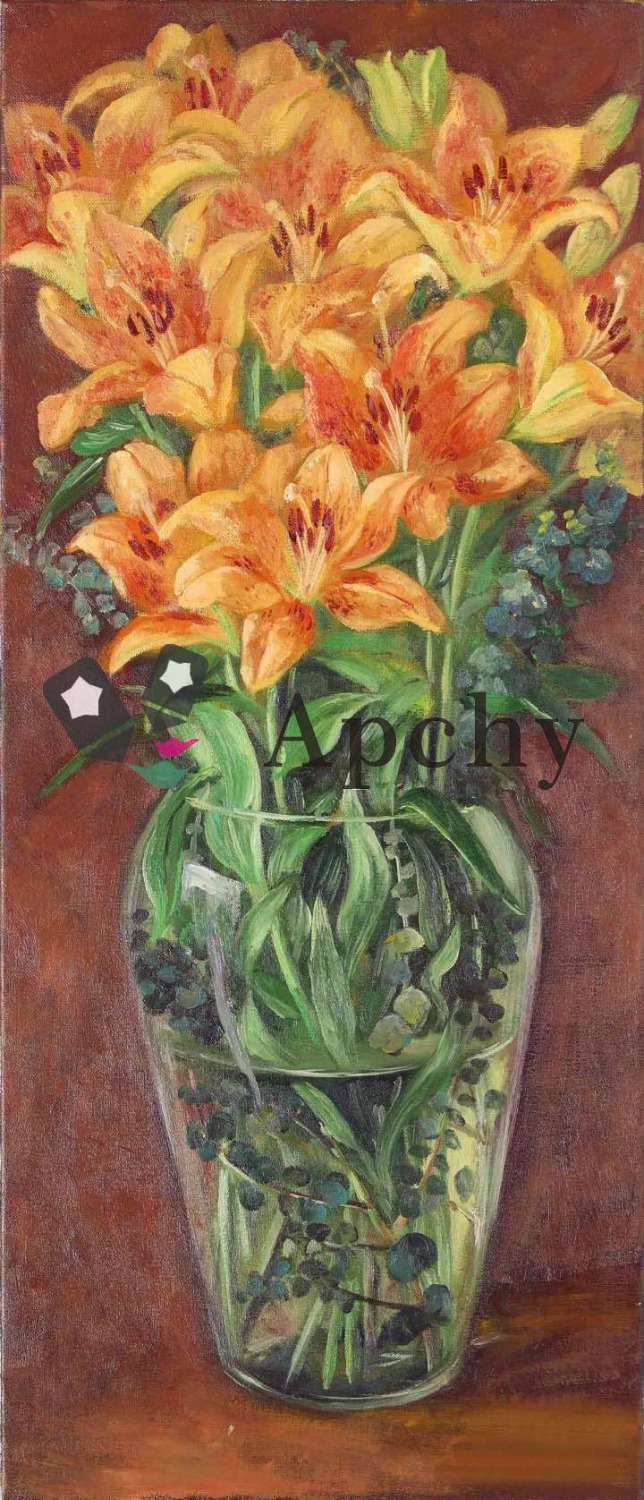 Free Shipping High Quality Handmade Art Oil Painting Flowers Series