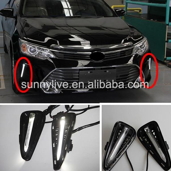 for Toyota Camry V55 LED Daytime Running light Camry 2014-2015 DRL 2014 2015 year camry v55 led bumper light for toyota v1