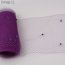 Purple or multiple color mix dot birdcage veil 25CM Width millinery veils DIY Hair accessories hat bridal netting party headwear