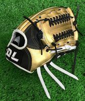 High quality!Gold color 12 Inch Professional Left hand cowhide Baseball gloves softball infielder gloves,Free shipping!