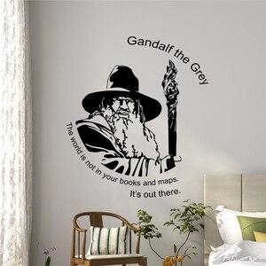 Gandalf Цитата Наклейка на стену Tolkien подарок виниловая наклейка Властелин Колец плакат настенная наклейка наклейки на стену для детских комна...