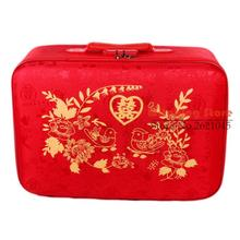 26 INCH 20222426# Red cloth bride dowry and suitcase password gift box tide wedding #EC FREE SHIPPING