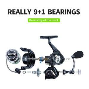 Image 2 - LINNHUE New Really 9+1 Metal Bearings Fishing Reel 5.2:1 Gear Spinning Reel1000H Max Drag Power Carp Fishing For Bass Tackles