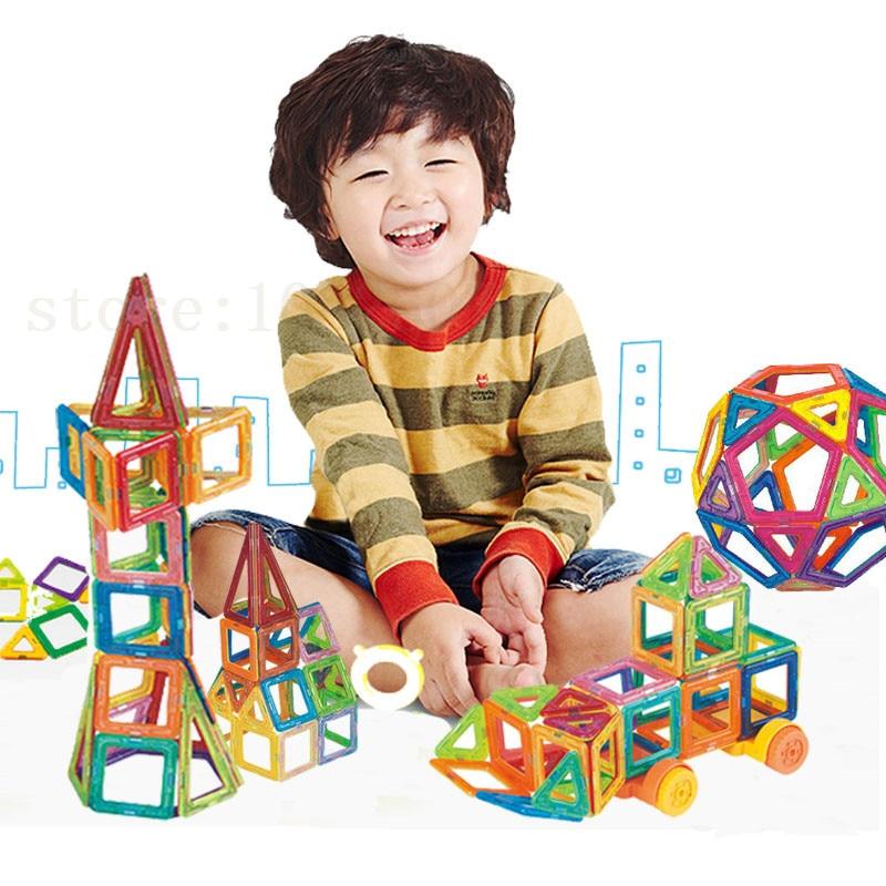 ФОТО 90PCS Mini Magnetic Designer Creator Educational Magnetic Toys 3D DIY Building Blocks Bricks Kids Toys Gift