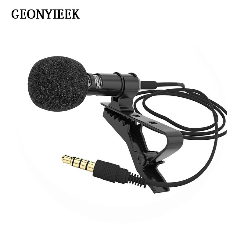 Portable 3.5mm Jack Microphone For Mobile Phone Clip-on Lapel Lavalier Microfone Condenser Mikrofon For Teaching Speech Wholesal