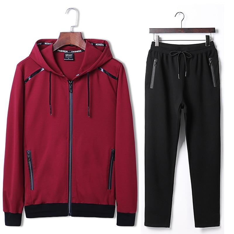 7XL 8XL 9XL Hoodies Set Mens Sport Suit Loose Big Size Sportsuit 2018 New Sportswear Gym Clothing Men Run Sets 140kg Can Wear  (6)