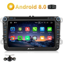 Pumpkin 2 Din 8'' Android 8.0 Car DVD Player GPS Navigation For VW/Skoda/Seat/Golf Car Radio Stereo 4GB RAM Wifi 4G DAB+Headunit