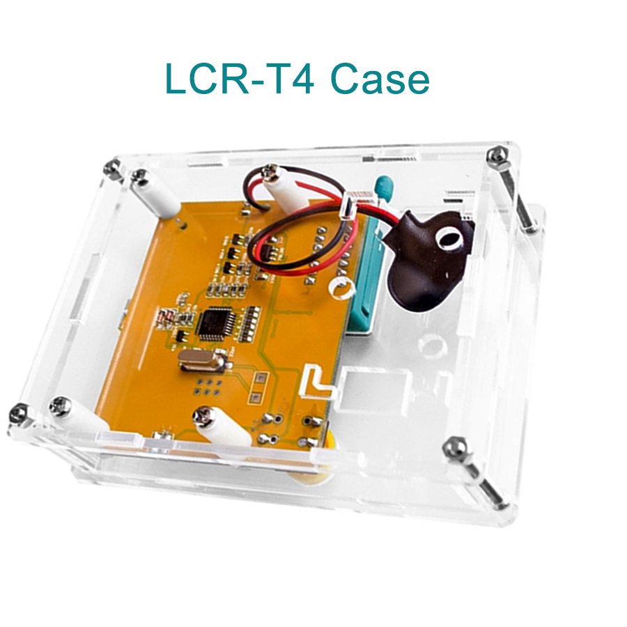 LCR-T4 Smart Electronics Kit Box Clear Acrylic LCR-T4 Case Shell Housing For LCR-T4 Transistor Tester ESR SCR/MOS LCR T4 DIY Kit