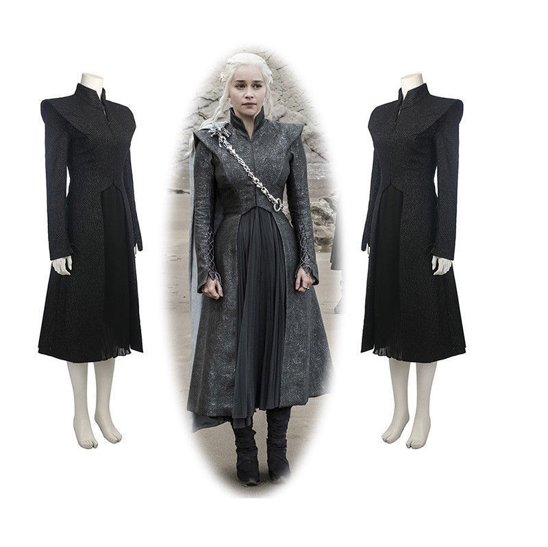 Game of Thrones Season 7 Costume Dress Daenerys Targaryen Stormborn the Unburnt Khaleesi Mother of Dragons Cosplay Costumes