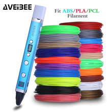 AVEIBEE 1.75mm ABS/PLA/PCL DIY 3D Pen LED Screen USB Charging 3D Printing Pen With Filament Creative Toy Gift For Kids Design 1 75mm abs pla diy 3d printing pen led lcd screen 3d pen painting pen filament charger creative toy gift for kids design drawing