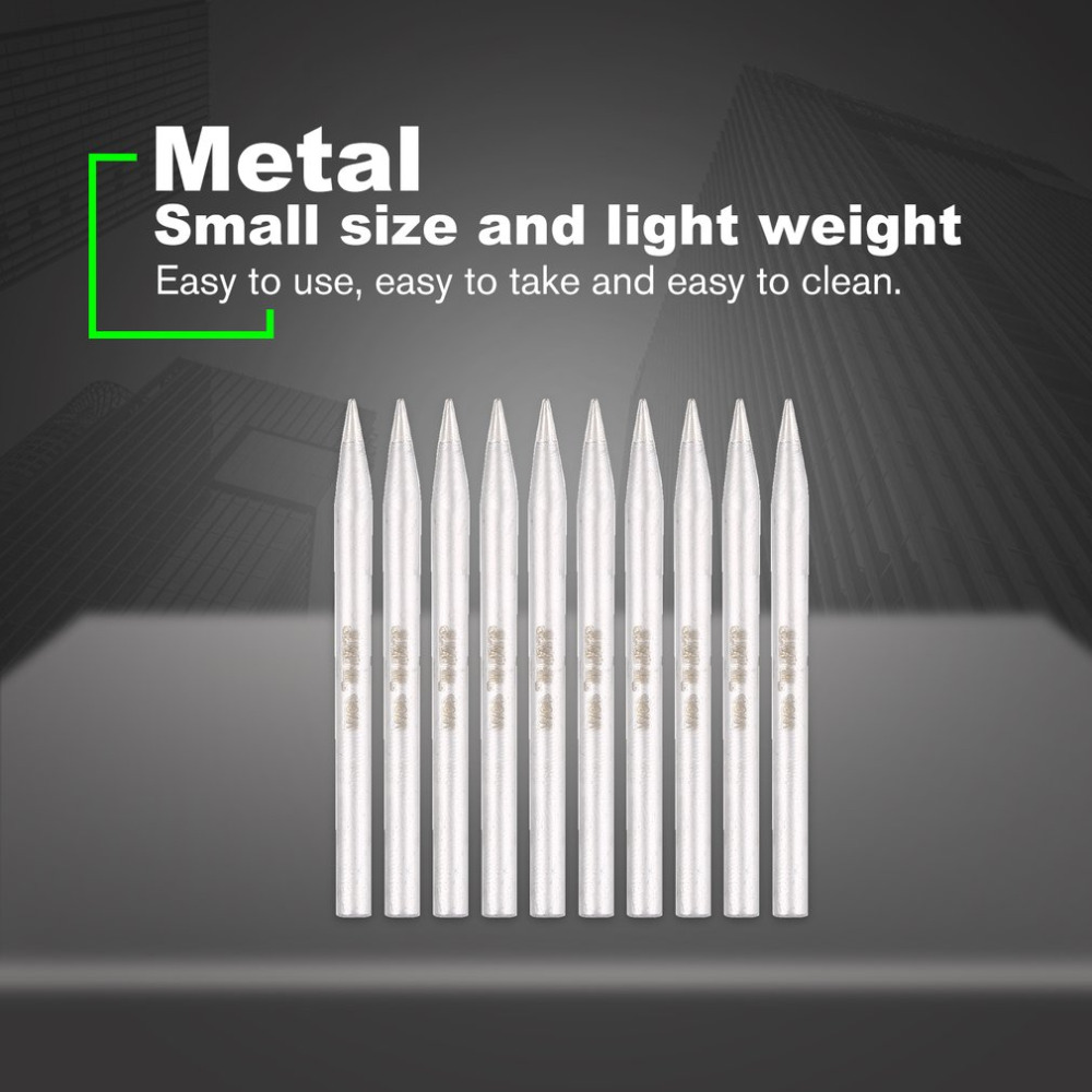 TNI-U 10pcs 60W Metal Soldering Welding Tips 5.0mmx80mm Nozzle Rework Station for Precision Electronic Repairing