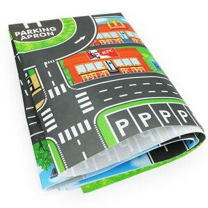 Image 5 - 100X130CM Speelgoed Auto Mat Kaart Kids Play Gebied Tapijt Mat Stad Road Gebouwen Parking Kaart Spel Scene Kaart Inklapbare