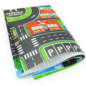 Image 5 - 100X130CM zabawka samochód mata mapa dzieci bawią się dywan do składania Mat miasto drogowe budynki Parking mapa gra scena mapa składana