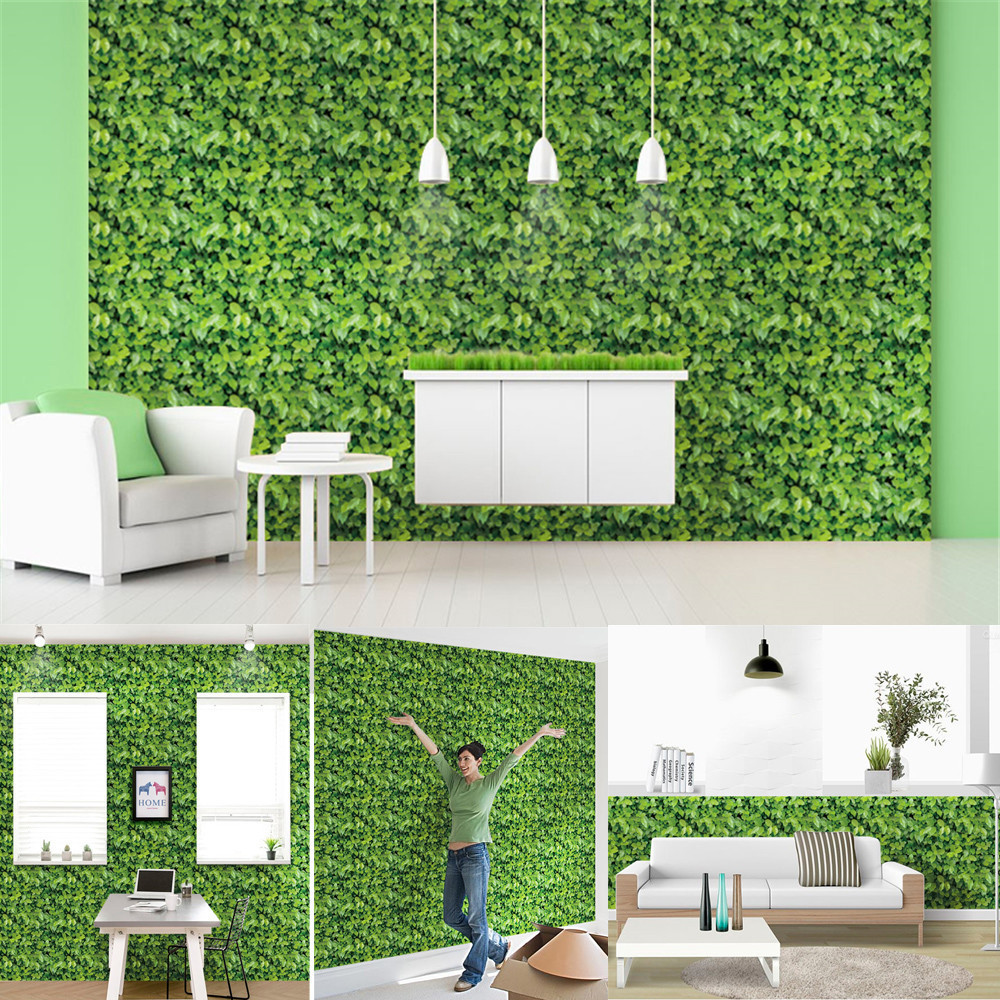 Image 5 - Wall Sticker 1/10 Meters Green Meadow Effect Self adhesive Wall Sticker Wall Stickers Home Decoration Living Bedroom Decor-in Wall Stickers from Home & Garden