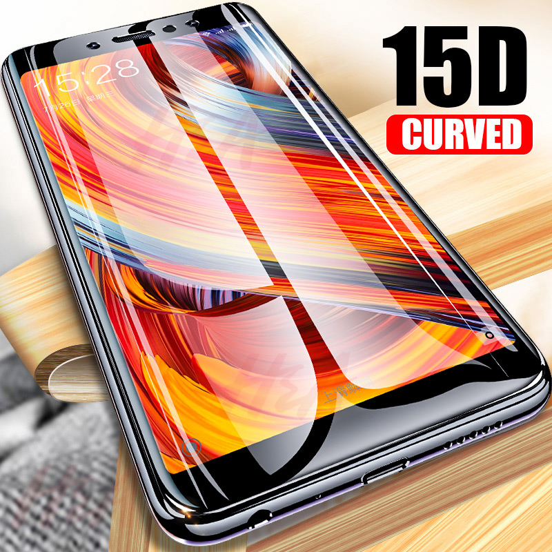 15D Curved Full Cover Tempered Glass For Xiaomi Redmi Note 5 6 7 Pro Protective Glass Screen Protector On The 5 5A 4X 6A Glass