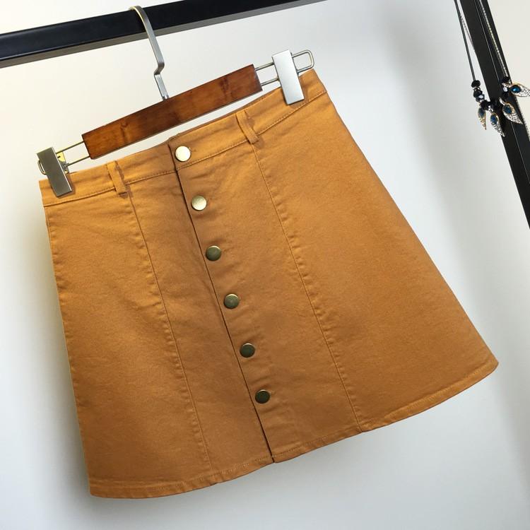 HTB11UU5MpXXXXbjXFXXq6xXFXXXx - American Apparel button Denim Skirt JKP265