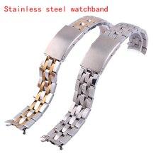 Alta calidad de los relojes correa de reloj pulsera vínculo sólido despliegue 19 mm 20 mm fitsT041 T017 PRC200 1853 promoción envío gratis