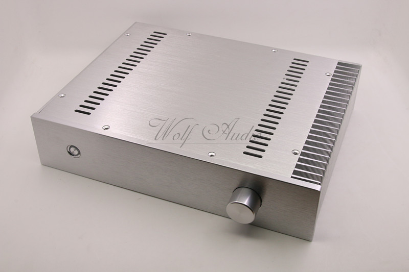 BZ3207C Silver Chassis Full Aluminum Preamplifier Enclosure Mini AMP BOX Unilateral Radiator Case