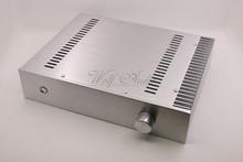 BZ3207C כסף מארז אלומיניום מלא מגבר מארז מיני AMP תיבת חד צדדי רדיאטור מקרה