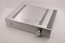 BZ3207C Silber Chassis Voll Aluminium Vorverstärker Gehäuse Mini AMP BOX Einseitige Kühler Fall