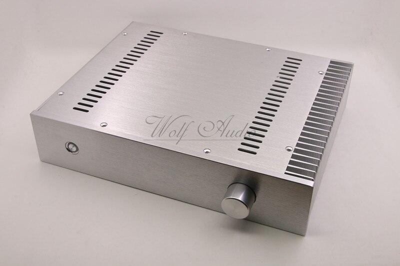 BZ3207C Zilver Chassis Volledige Aluminium Voorversterker Behuizing Mini AMP DOOS Eenzijdige Radiator Case-in Versterker van Consumentenelektronica op  Groep 1