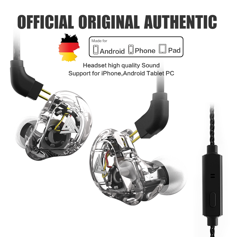 QKZ VK1 ZS10 Headphone With 4 Dynamic Hybrid In Ear Earphone HIFI DJ Monito Running Sport Earphone 4 Drive Unit Headset ZS6 original senfer dt2 ie800 dynamic with 2ba hybrid drive in ear earphone ceramic hifi earphone earbuds with mmcx interface