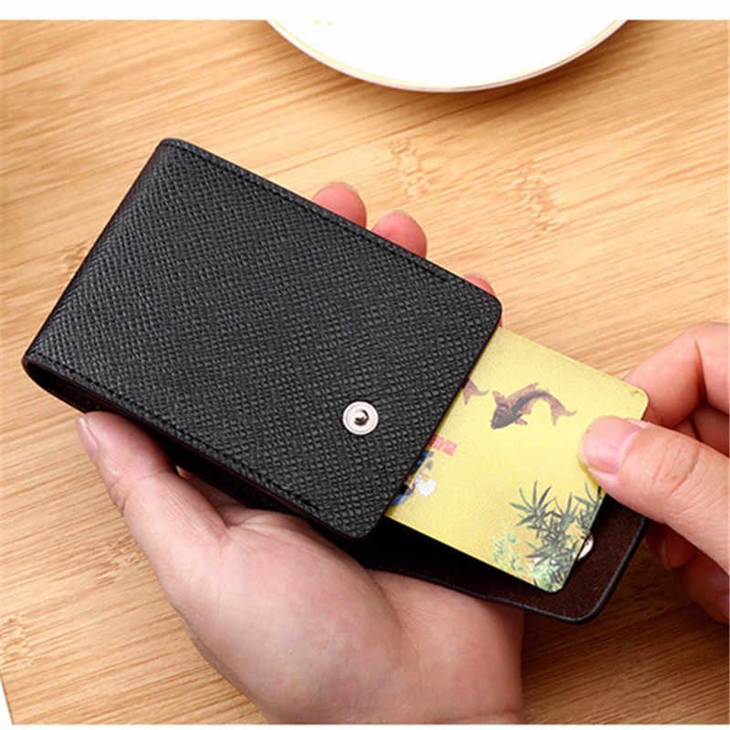 BISI GORO crédit porte-carte s tenir 10 cartes 2020 nouveaux portefeuilles unisexe affaires moraillon porte-carte multifonction sacs à main en cuir synthétique polyuréthane
