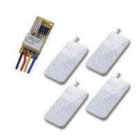 DC 3.7V 12V Wide Working Voltage Remote Switch 4.5V 5V 6V 7.4V 9V 12V 10A Relay learning Mini Wireless Control Switch