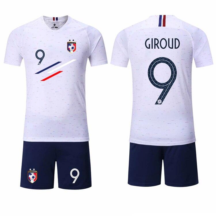 purchase cheap 502af 96290 Boy Spring Soccer Short Sleeve France 2 Stars Training Jerseys MBAPPE Kids  Football Team Design Uniform Shirts&Shorts Suits