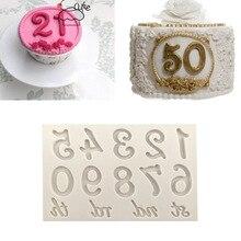 Aouke формы большие цифры Силиконовые формы 3D помадка формы торты украшения инструменты DIY Gumpaste Кухня Формы для выпечки K134