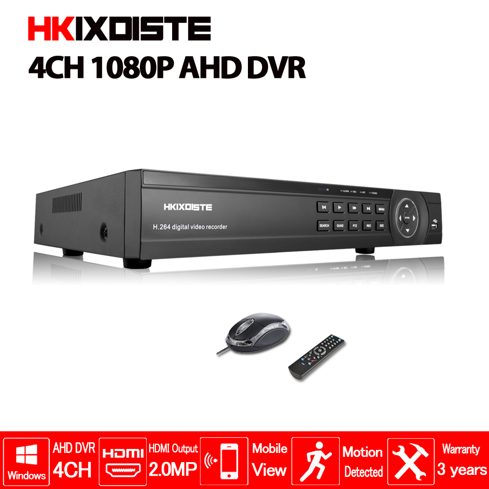 4 Channel 1080P Full AHD DVR Real time Recording Playback With HDMI 4Ch 2.0MP 4Ch 5MP NVR Onvif CCTV Recorder Hybrid DVR NVR