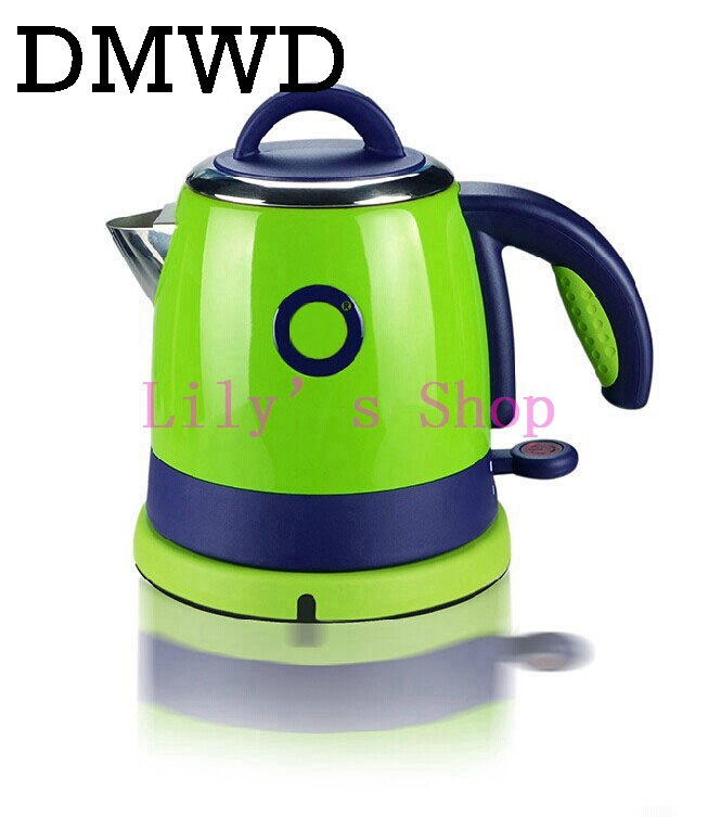 DMWD 0.8L Split Style Stainless Steel Quick Heating water Kettles Auto power off Electric kettle teapot boiler 1000w EU US plug high quality electric kettle double wall insulation quick heating digital electric thermos water boiler home appliances for tea
