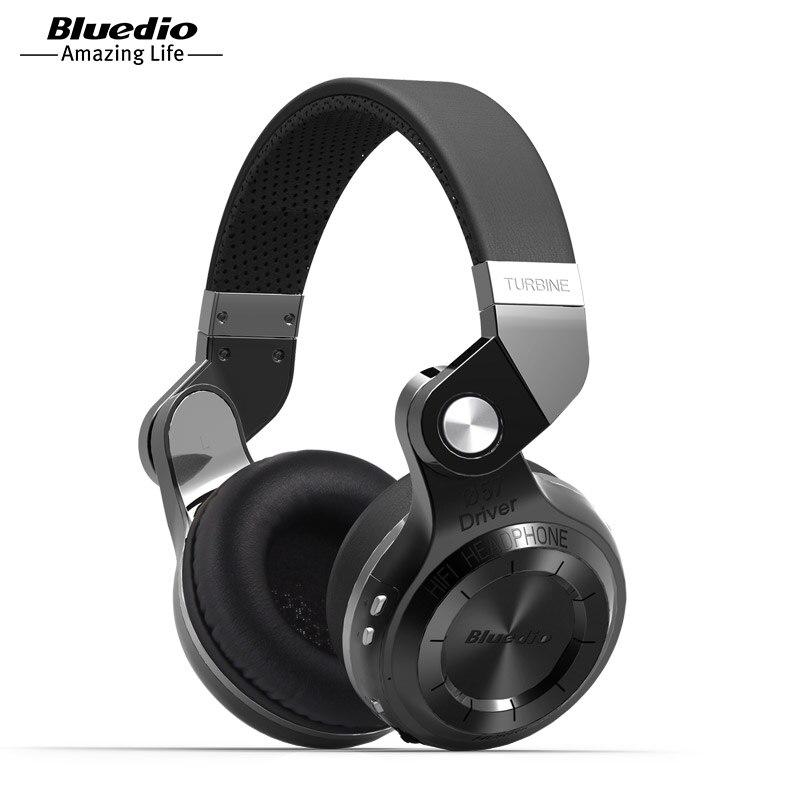 Bluedio T2S (Riprese Freno) cuffie stereo Bluetooth cuffie senza fili Bluetooth 4.1 auricolare sopra l'orecchio cuffie