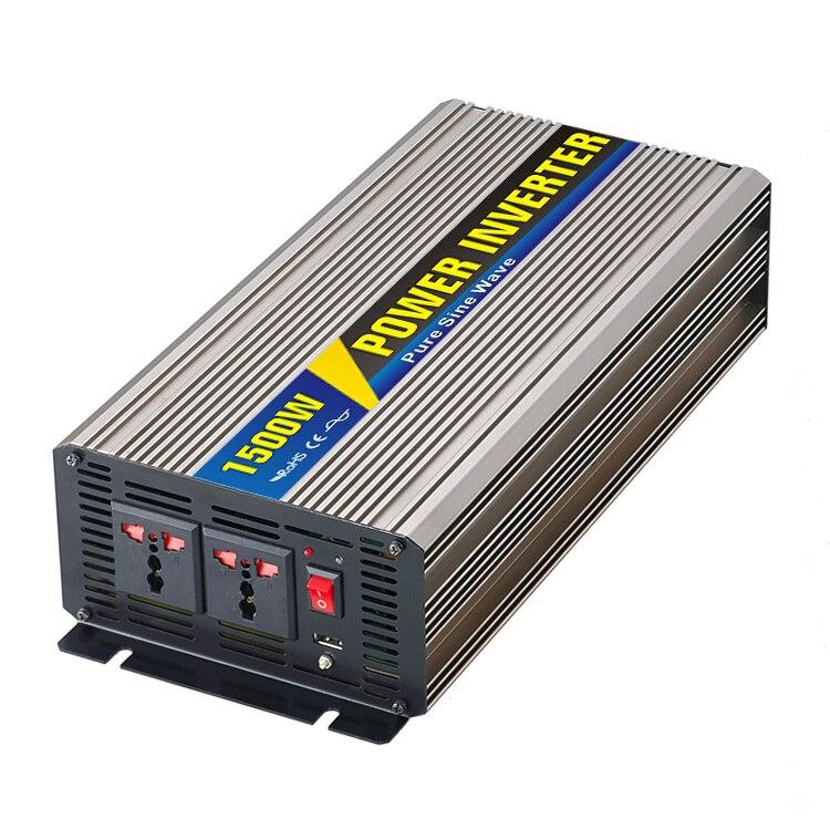 MAYLAR@ 1500W Car Power Inverter Converter DC 12V to AC 110V or 220V Pure Sine Wave Peak 3000W Power Solar inverters