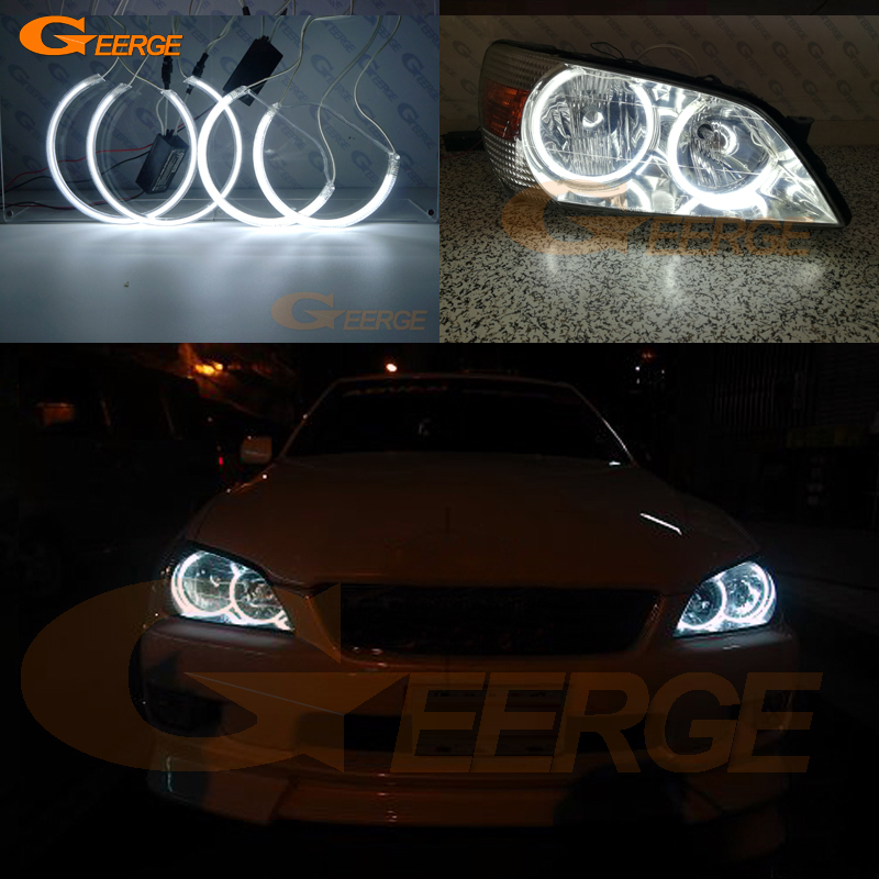 For Toyota Altezza SXE10 Gita (Japan) 1998-2005 Excellent Angel Eyes Ultra bright illumination CCFL Angel Eyes kit Halo Ring free shipping ccfl angel eyes for corolla non projector halo ring corolla angel eyes for toyota