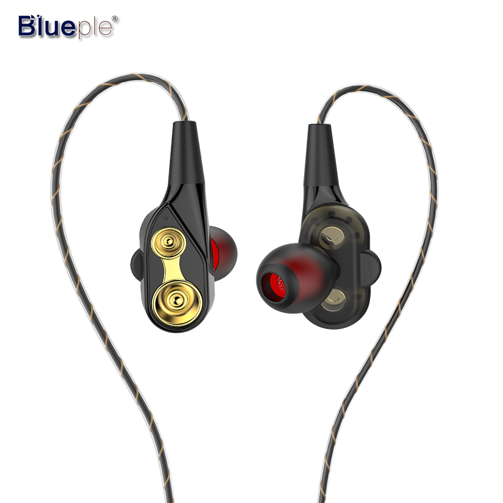 Blueple In Ear Earphone with Microphone HiFi Earphone 3.5mm Earbuds Flexible Cable Earphone with Mic for xiaomi mp3 player цена 2017