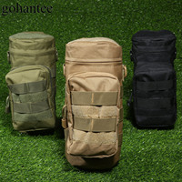 Gohantee Adjust Military Pouch Tactical Water Bottle Pouch Nylon Kettle Bag Package MOLLE Canteen Holder Outdoor