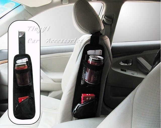 Car multi seat Pocket/Car& auto net/Waterproof fabric/chair side bags/3color/Wholesale+Retail/Free Shipping