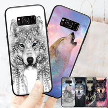 Night Starry Sky Roaring King Wolf  Pattern For Xiaomi A1 5X RedMi 4A 4X 5 Plus Huawei Honor 6X 7X P8 P9 P10 P20 Lite Hard Phone